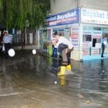 Son Dakika; Boyabat'ta Sağanak Yağış Sel ve Su Baskınlara Neden Oldu