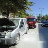 Otomobil Alev Aldı Yürekler Ağza Geldi (Videolu Haber)