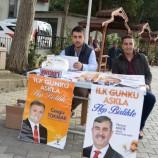 Boyabat'ta Ak Partili Gençler Lokum İkram Ettiler….