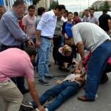 Kamyonet bisiklete çarptı: 2 yaralı