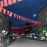 Boyabat Stadyum Caddesi Bayraklarla Donatıldı