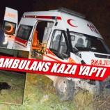 Son Dakika : Hastaneye Yaralı Taşıyan Ambulans İneğe Çarptı…