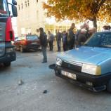 Boyabat Köprübaşı'nda İki Otomobil Çarpıştı ,1 Hafif Yaralı..