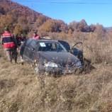 Yoldan Çıkan Otomobil Takla Attı,1 Yaralı…