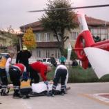 Beyin Kanaması Geçiren Vatandaşın İmdadına Hava Ambulansı Yetişti…..
