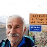 Sinoplu Ultra Doğa Yürüyüşçüsü, Mustafa Kıray (71) Ankara'ya ulaştı….