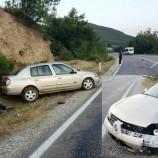 SON Dakika ; Durağan-Vezirköprü Arasında Otomobil Yoldan Çıktı, 3 Yaralı…..