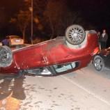 SON Dakika ; Otomobil Takla Attı: 2 Yaralı….