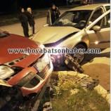 Boyabat Daylı Kavşağında Trafik Kazası: 2 Yaralı….