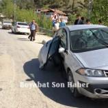 Boyabat Pazar Yokuşunda Trafik Kazası….