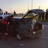 Feci Trafik Kazası, İtfaiye Can Kurtardı…