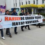 """Sinop'ta """"Kanserde Erken Teşhis Hayat Kurtarır"""" Yürüyüşü Yapıldı…"""