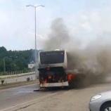 Sinop'ta Yolcu Tur Otobüsü Alev Aldı….