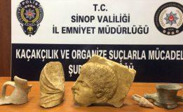 Sinop'ta 2400 Yıllık Tarihi Eserler Ele Geçirildi…