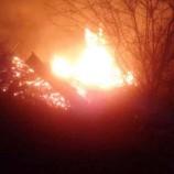 Köyde Yangın, Bir Ev Tamamen Kül oldu…
