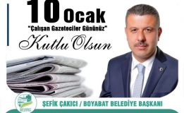 Başkan Çakıcı'dan 10 Ocak Çalışan Gazeteciler Günü mesajı….