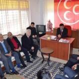 Vekil Dr. Nazım Mavişten, MHP ve CHP İlçe Teşkilatına Ziyaret…..