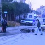Motosikletle Otomobil Çapıştı, 1 Yaralı…