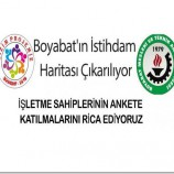 Boyabat'ın İstihdam Haritası Çıkarılıyor…