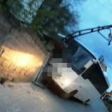 Boyabat 'ta Freni Boşalan Minibüs, Elektrik Direğine Çarptı, Faciadan Dönüldü…
