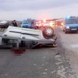 Durağan – Vezirköprü Yolunda, Feci Trafik Kazası, 1 Ölü, Biri Çocuk , 3 Yaralı….