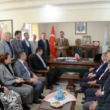 Vekil Nazım Mavişten , Başkan Çakıcıya Ziyaret..
