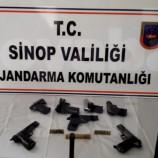 Boyabat'ta Ruhsatsız Silah Operasyonu: 6 Gözaltı…