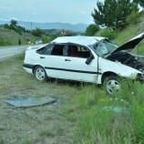 Lastiği Patlayan Otomobil Takla Attı, 5 Hafif Yaralı….