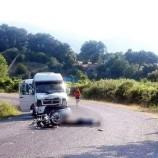 Motosikletle Minibüs Çarpıştı, 1 Ölü…..