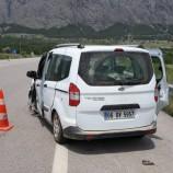 Boyabat Kargı Yolunda İki Otomobil Çarpıştı, 1 Yaralı…