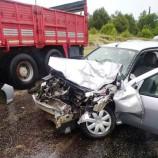 Boyabat'ta Kamyonla Otomobil Çarpıştı, 1 Hafif Yaralı…