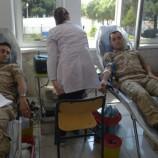 Komandolar kan bağışında bulundu..