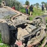 Yabanlıda Otomobil Takla Attı, 2 Ağır, 5 Yaralı…