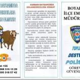 Boyabat İlçe Emniyet Müdürlüğü yaklaşan Kurban Bayramı nedeniyle vatandaşları uyaran broşür dağıttı…