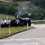 Otomobil Kaldırıma Çarptı, 5 Yaralı…