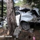 Boyabat –Sinop Eski Yolunda Otomobil 50 Metre Dereye Yuvarlandı, 1 Ölü 4 Yaralı..