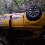 Ticari Taksi Şarampole Uçtu, 4 Yaralı…