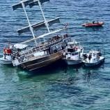Sinop'ta Yan Yatan Yolcu Gezi Gemisinden Son Görüntüler …