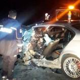 Dıranaz Tüneli Çıkışında Meydana Gelen Trafik Kazasında 4 Kişi Yaralandı..