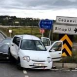 Sinop Yolunda Feci Trafik Kazası, 3 Yaralı…