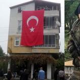 Boyabatlı Şehit Askerin Evine Türk Bayrağı Asıldı…