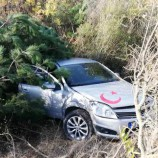 Yoldan çıkan Otomobil Takla Attı, 1 Yaralı…