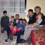 Başkan Çakıcıdan Yılbaşı Gecesi, 10 Çocuklu Aileye Ziyaret…