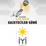 Boyabat İYİ Parti İlçe Başkanlığından 10 Ocak Gazeteciler Günü Mesajı…