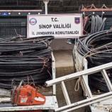 200 Bin TL'lik Kabloları Çalarken Yakalandılar…