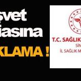 Sinop il Sağlık Müdürlüğünden Rüşvet İddialarına Basın Açıklaması…
