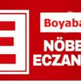 """Boyabat'ta 2020 Yılı """"OCAK"""" Ayı Nöbetçi Eczane Listesi Açıklandı…"""