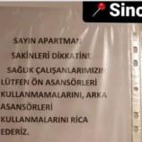 Sinop'ta Sağlık çalışanlarına asansör kısıtlaması!…