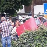 Boyabat'ta Otomobil Önüne Çıkan Mobilete Çarpmamak İçin Takla Attı..