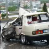 Sinop Hastane Yolunda Feci Trafik Kazası, 1 Ölü..